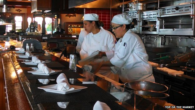 Chefs at the Top of the Market restaurant