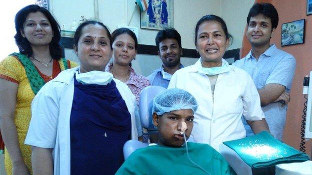 Medical team who operated on Ashik Gavai's teeth