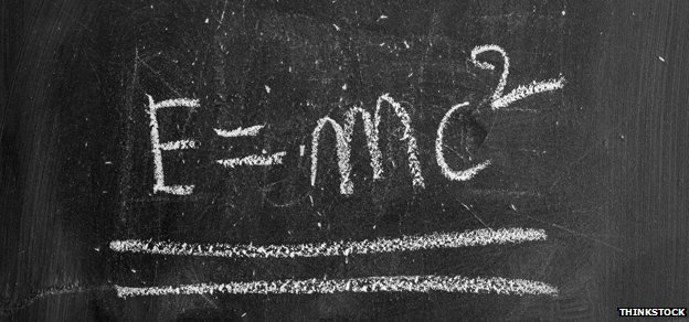 "blackboard reads ""E=MC2"""