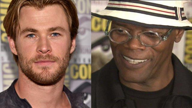 Chris Hemsworth and Samuel L Jackson