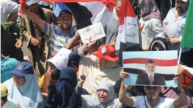 Muslim Brotherhood supporters in Cairo (21/06/13)