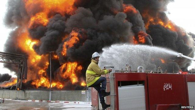Fire at Gaza's main power plant