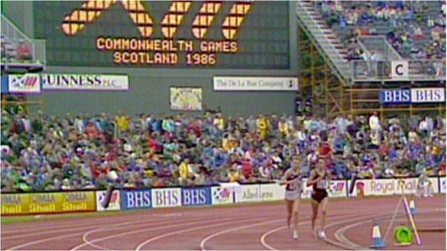 Liz McColgan at the 1986 Commonwealth Games