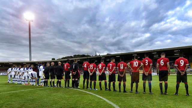 Man Utd drew 2-2 with CSKA Moscow at The Brandywell
