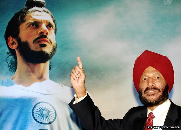 Milkha Singh attends the the launch of the film 'Bhaag Milkha Bhaag' in 2013