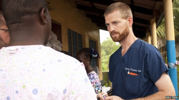 Dr Kent Brantly at the case management centre on the campus of ELWA Hospital in Monrovia