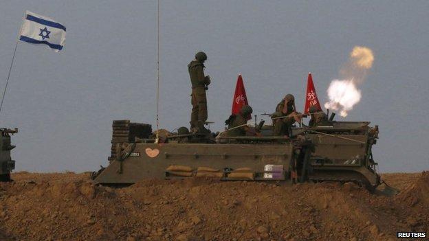 Israeli troops fire mortars on Gaza just before ceasefire - 1 August