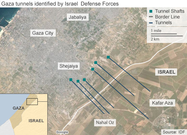 IDF map of tunnels