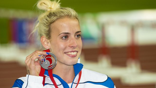 Lynsey Sharp ran a stirring race to earn a silver medal in the 800m