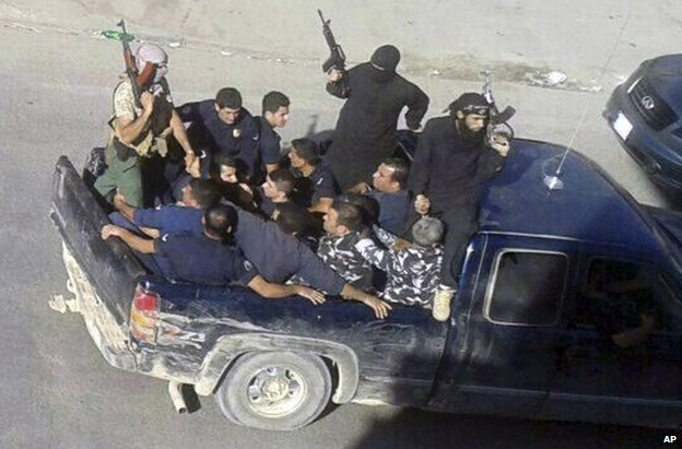 Gunmen drive off with captives in the Lebanese border town of Arsal, 2 August