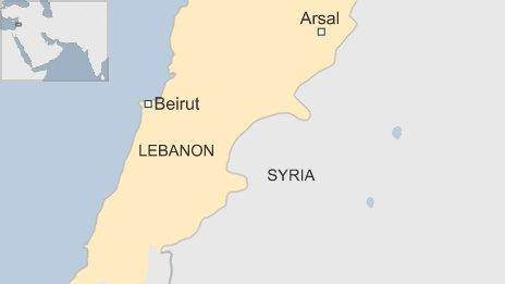 Lebanon Syria map