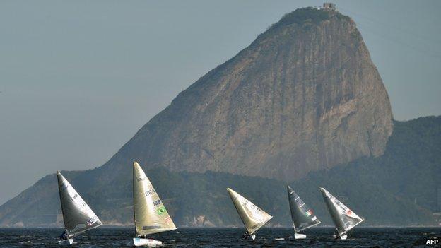 Test regatta for Rio Olympics in Guanabara Bay