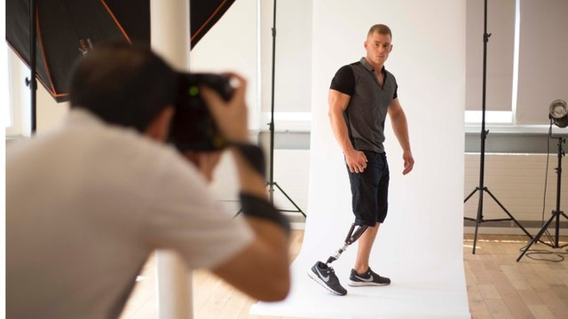 Jack Eyers modelling for photo shoot