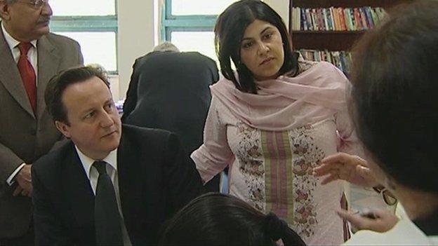 David Cameron and Lady Warsi