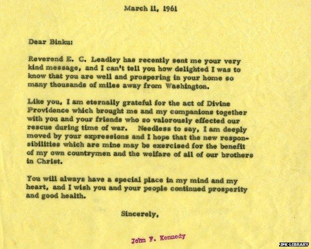 President Kennedy's response to Biuku Gasa