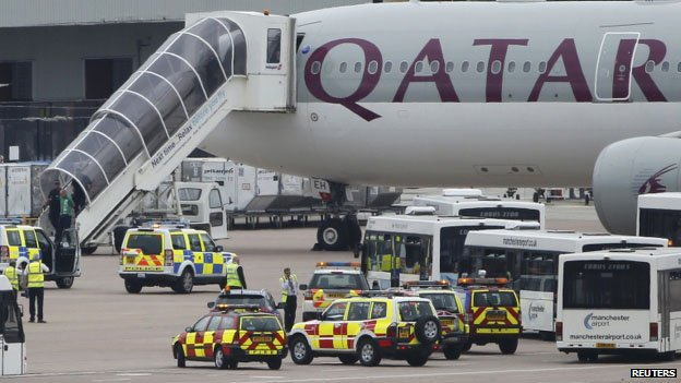 Qatar Airlines plane landed