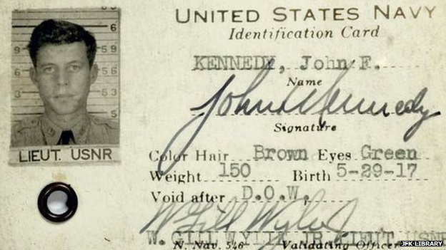 United States Navy identification card for John F. Kennedy.