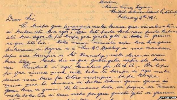 A letter written from Biuku Gasa to President Kennedy in 1961