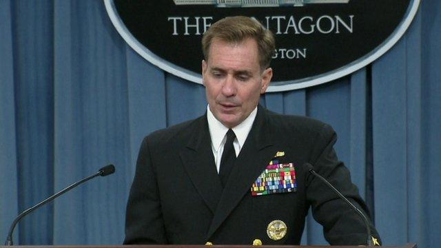 Rear Admiral John Kirby, the Pentagon press secretary