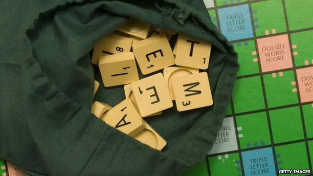 Bag of scrabble tiles