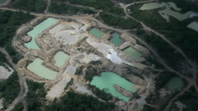 Deforestation in the Amazon caused by illegal gold mining