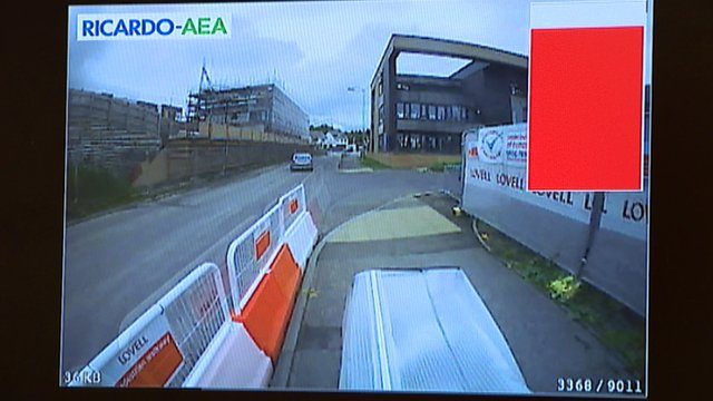 Pollution monitor footage