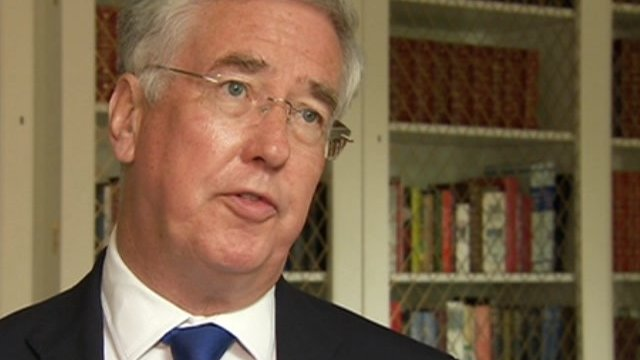 Defence Secretary Michael Fallon