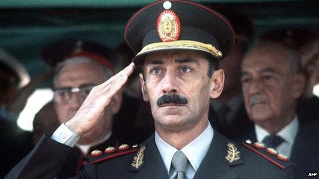 Undated file photograph showing former Argentine dictator Jorge Rafael Videla in Buenos Aires. AFP