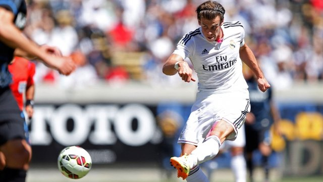 Gareth Bale in action for Real Madrid against Inter Milan