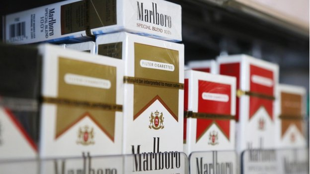 Marlboro cigarette packets