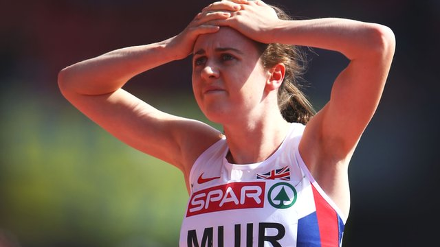 Britain's Laura Muir misses out on 1500m final