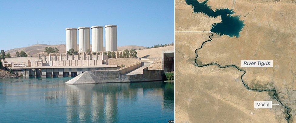 Mosul dam in northern Iraq
