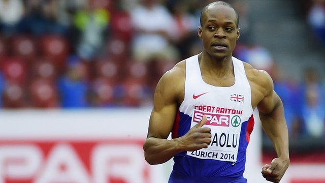 British sprinter James Dasaolu at the 2014 European Athletics Championships