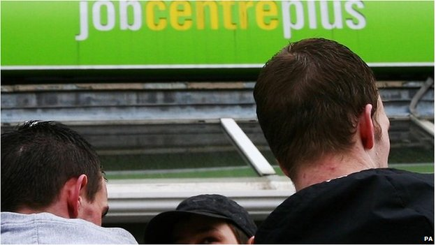 Young people outside job centre