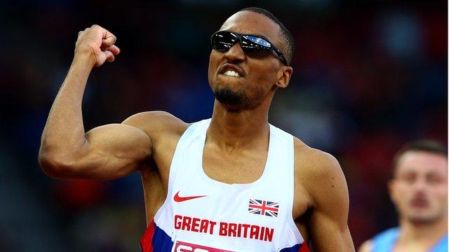 British 400m runner Matt Hudson-Smith at the European Athletics Championships in Zurich