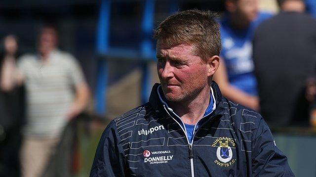 Dungannon Swifts manager Darren Murphy