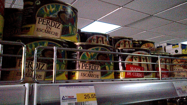 Cans of partridge meat