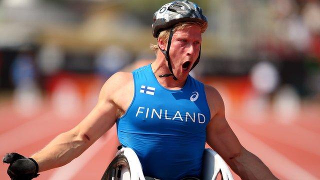 Finland wheelchair racer Leo Pekka Tahti