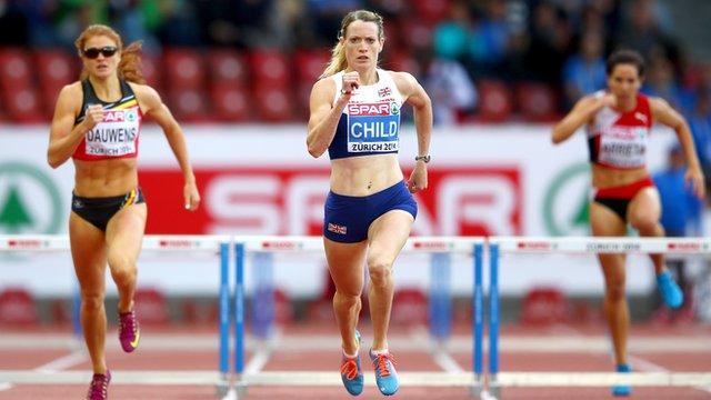 British 400m runner Eilidh Child at the European Athletics Championships in Zurich