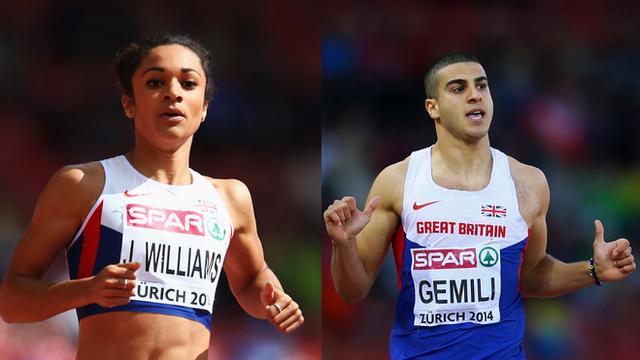 Britain's Jodie Williams & Adam Gemili win 200m semi-finals
