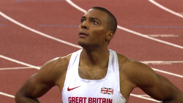 Britain's Will Sharman takes silver in 110m hurdles
