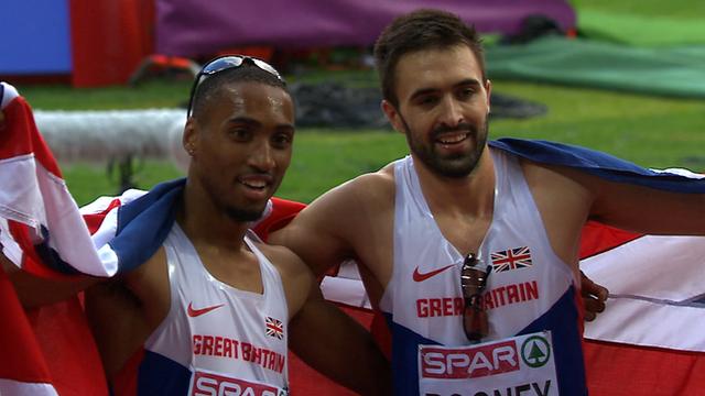 European Championships: Martyn Rooney (r) & Matthew Hudson-Smith