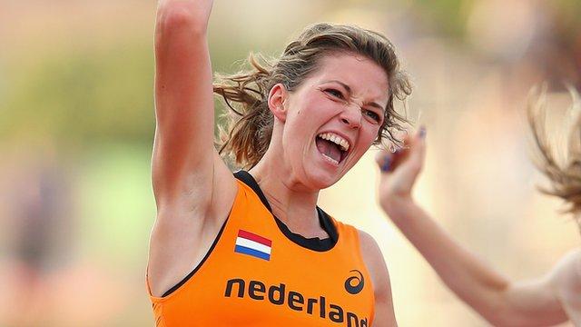 Dutch amputee sprinter Marlou van Rhijn