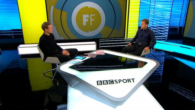 Football Focus host Dan Walker and former Man United player Phil Neville