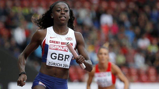 British sprinter Desiree Henry at the European Athletic Championships in Zurich