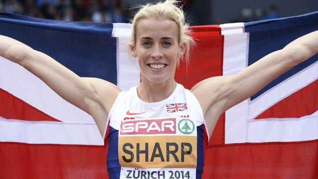 British 800m runner Lynsey Sharp at the European Athletics Championships in Zurich