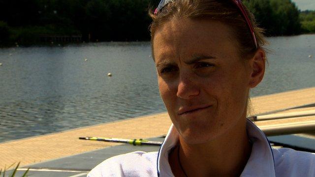 Great Britain rower Heather Stanning