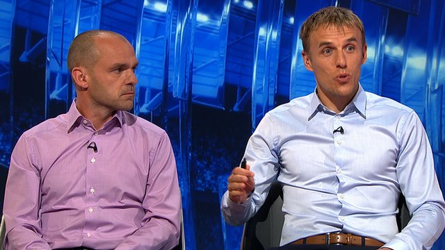 Match of the Day pundits Danny Murphy and Phil Neville