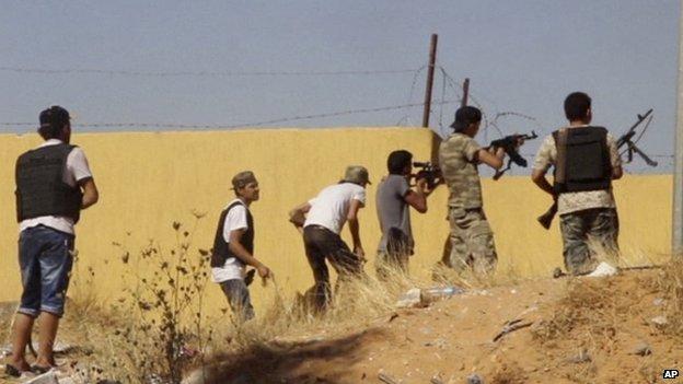 Militia near Tripoli airport