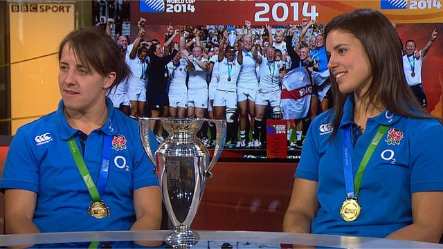 England captain Katy McClean (left) and Sarah Hunter